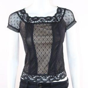 Express Women's Black Lace XSmall Top